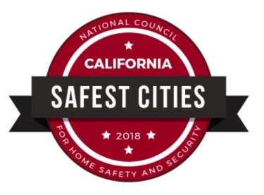 safest cities badge 2018