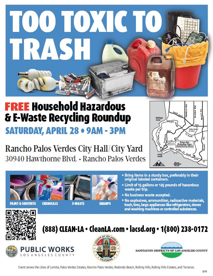 Free Household Hazardous & E-Waste Recycling Roundup in Ranchos