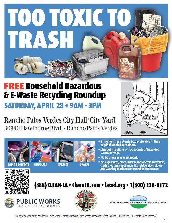 Free Household Hazardous & E-Waste Recycling Roundup in